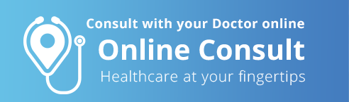 Consult with your doctor online. Online consult. Healthcare at your fngertips